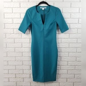 Diane von Furstenberg Aurora Dress 2 Teal Green